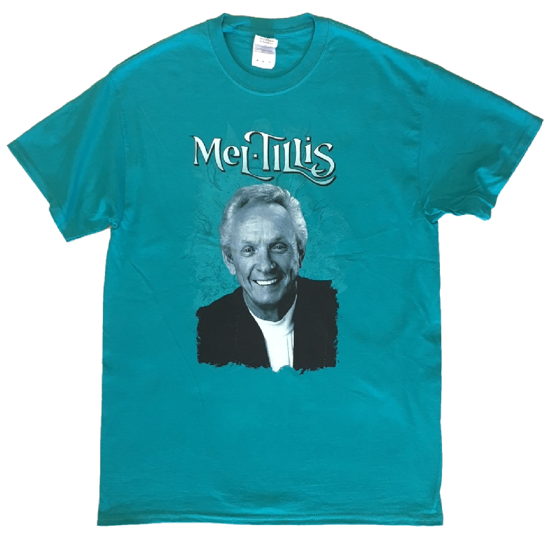 Mel Tillis Unisex Teal Photo Tee