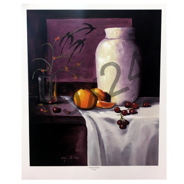 Mel Tillis Print- Oranges and Grapes