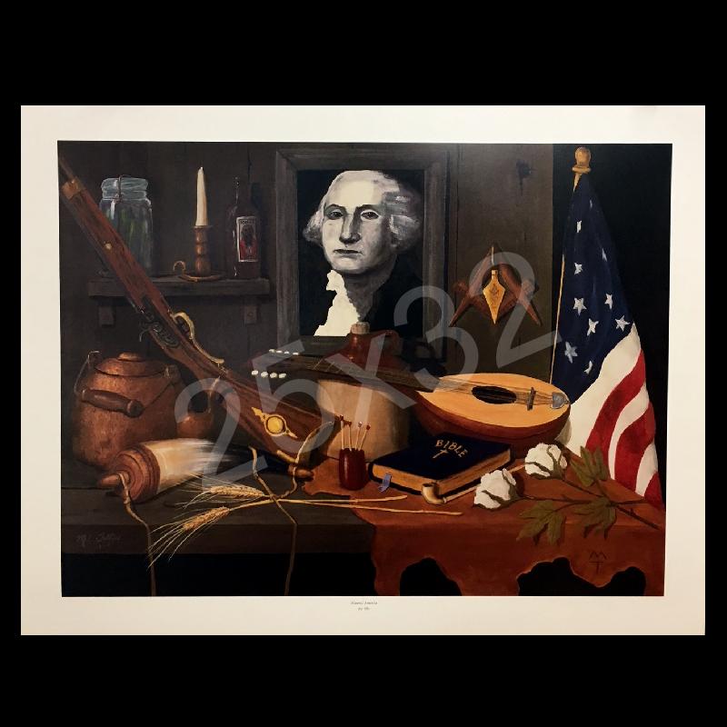 Mel Tillis Print- Masonic America
